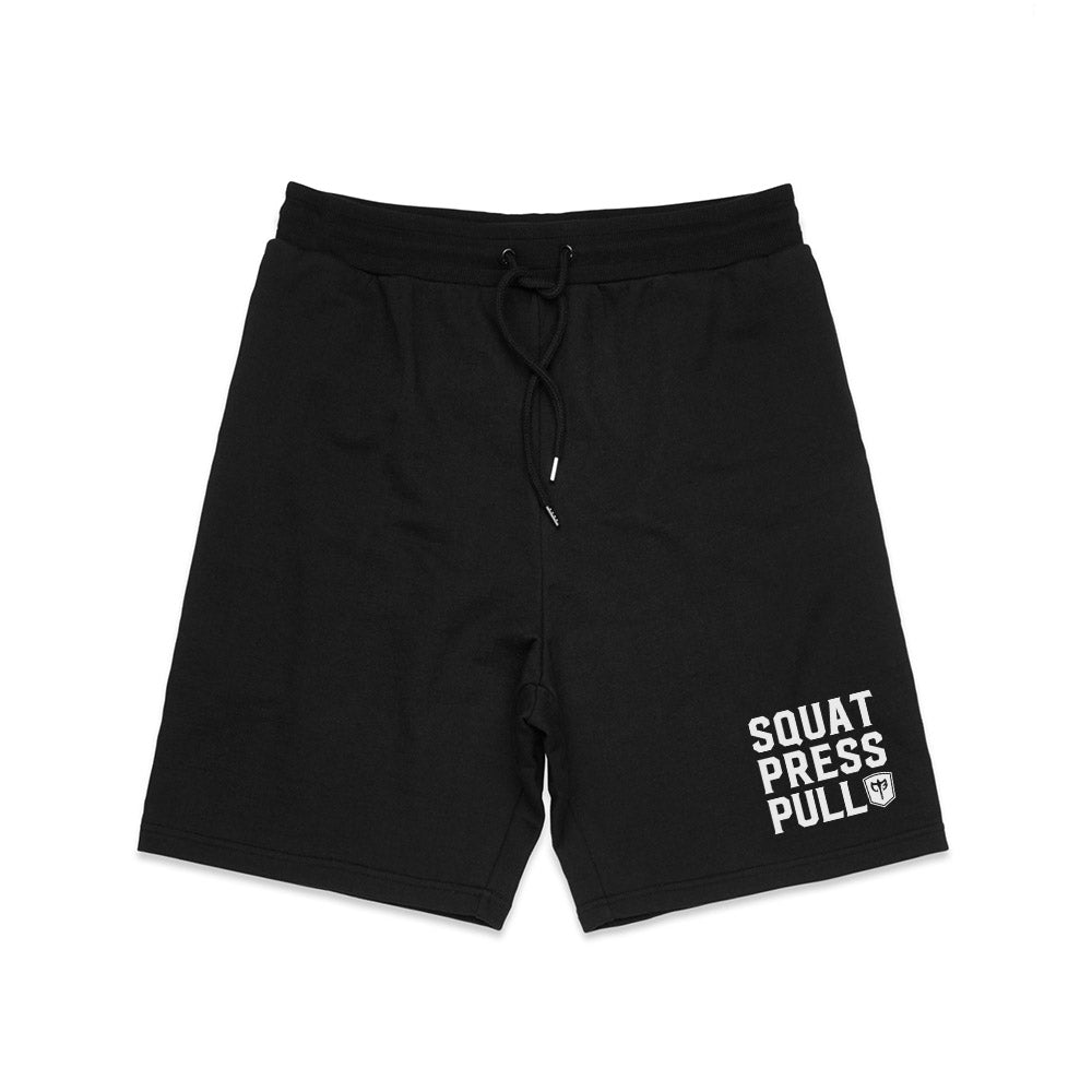 Squat.Press.Pull. French Terry Shorts - Black