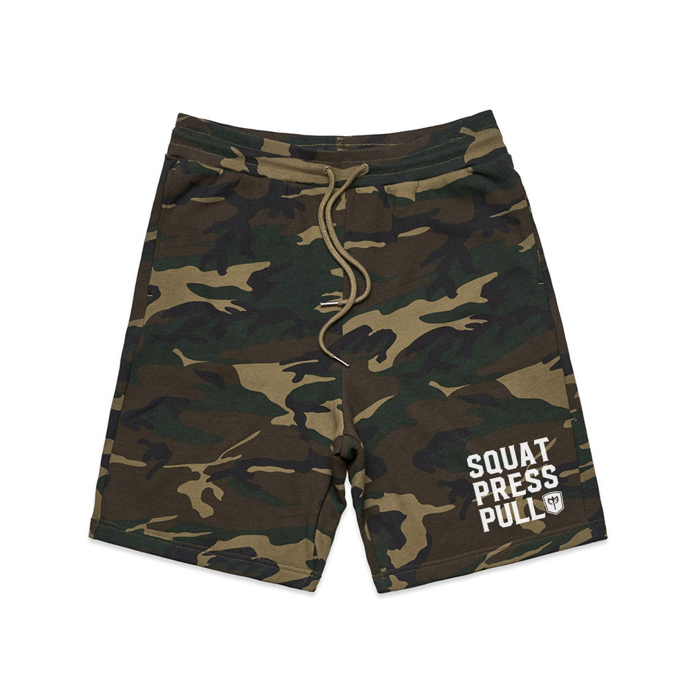 Squat.Press.Pull. French Terry Shorts - Camo