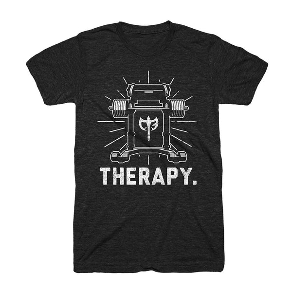 Iron Therapy -  on Black Tee