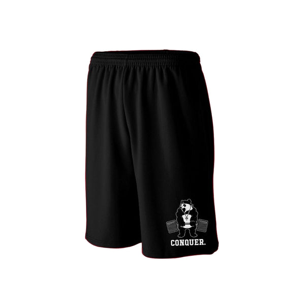 Conquer Panda Training Shorts - Black