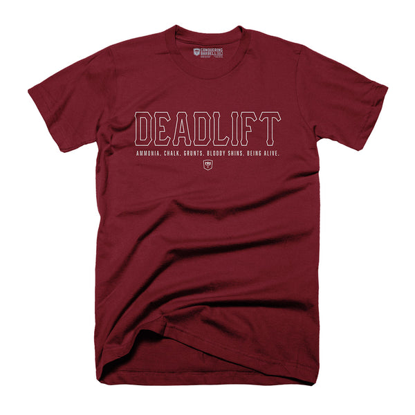 DEADLIFT - on Heather Cardinal Tee