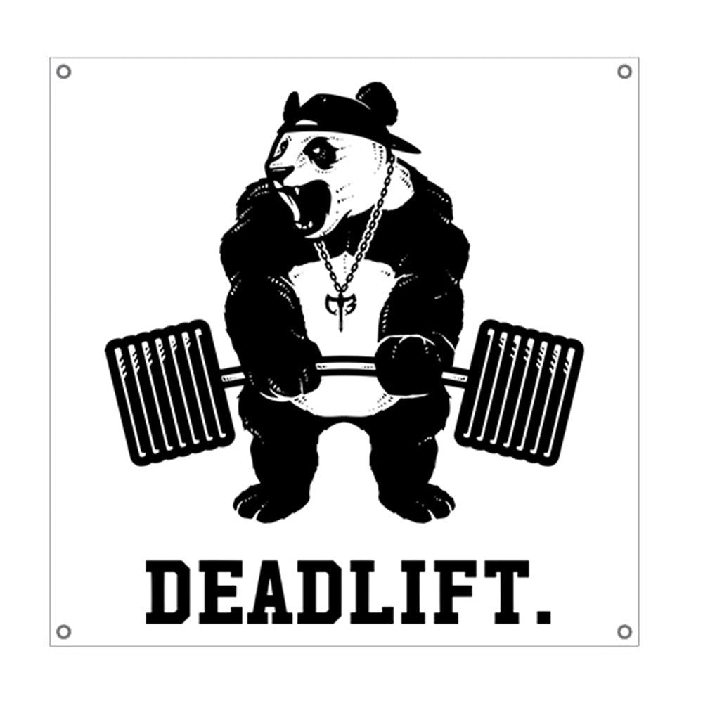 Deadlift Panda - 3'x3' Gym Flag
