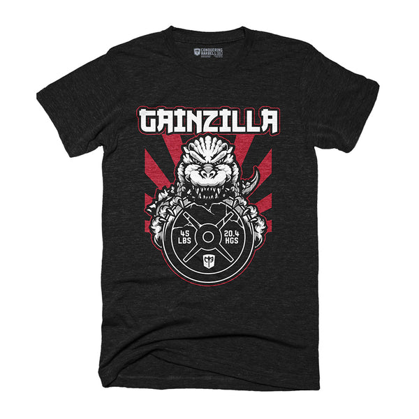 Gainzilla- on Black Tee