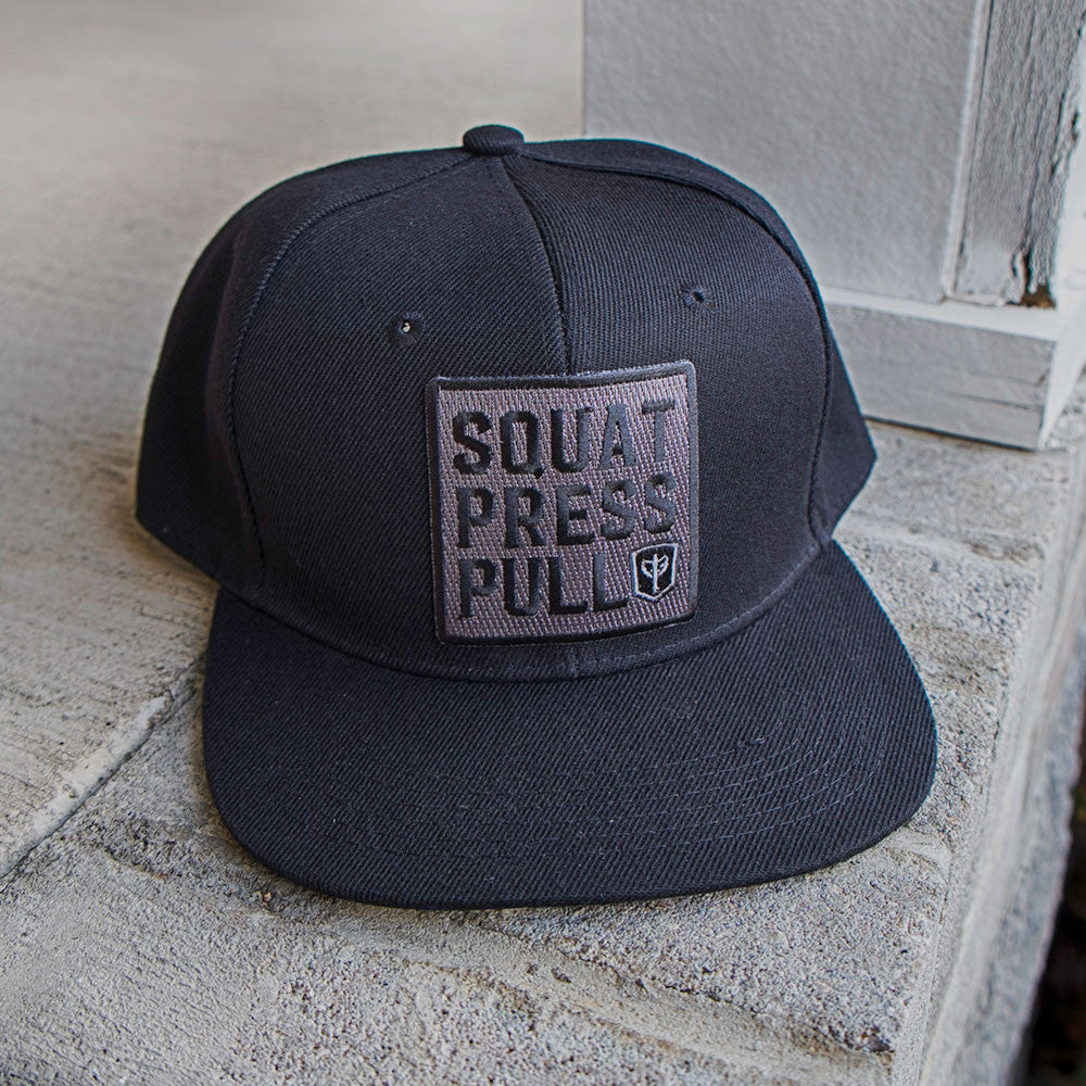 Squat Press Pull Snapback - Black