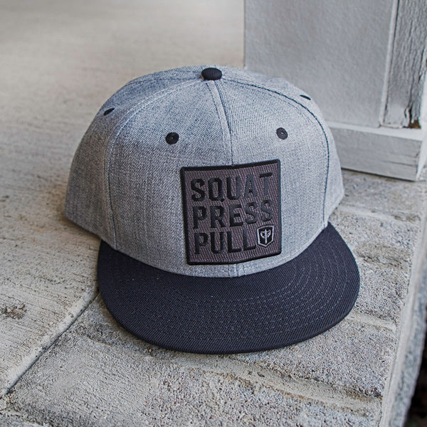 Squat Press Pull Snapback - Heather Grey/Black