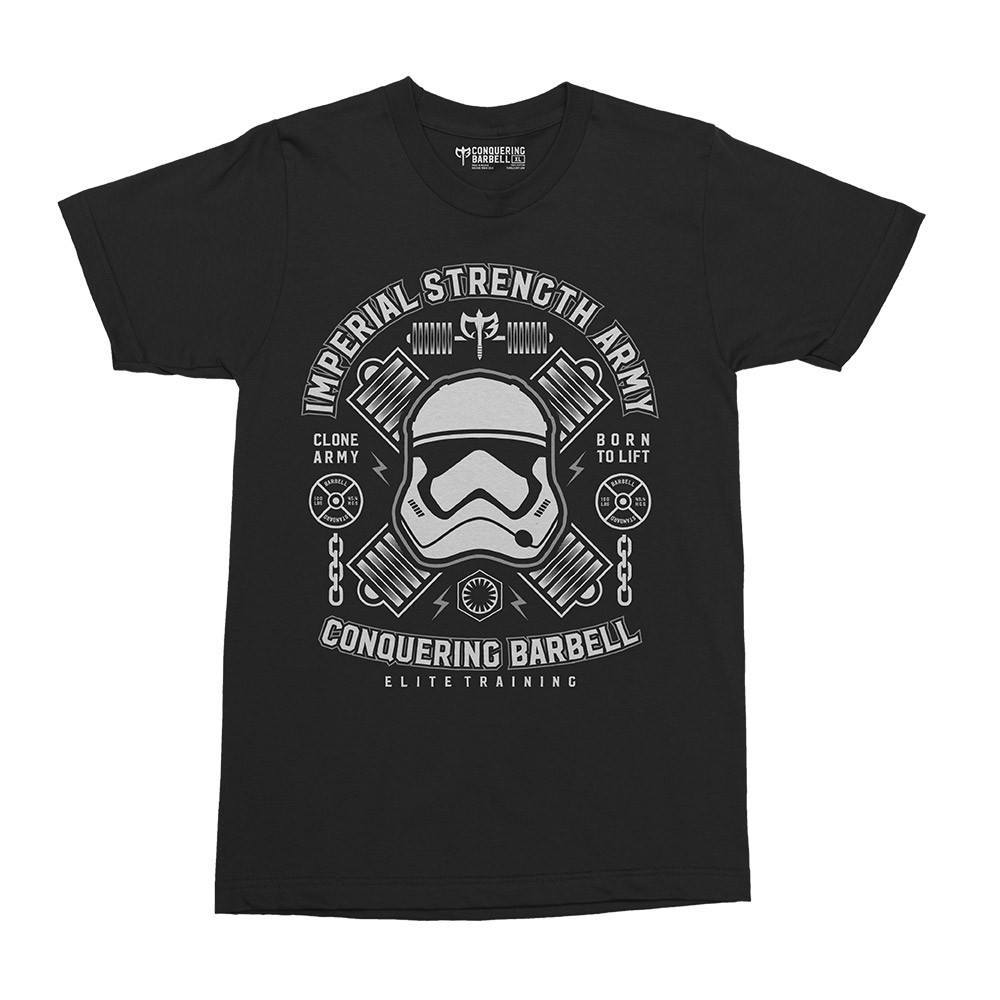 Shirts - Imperial Strength Army On Black Tee