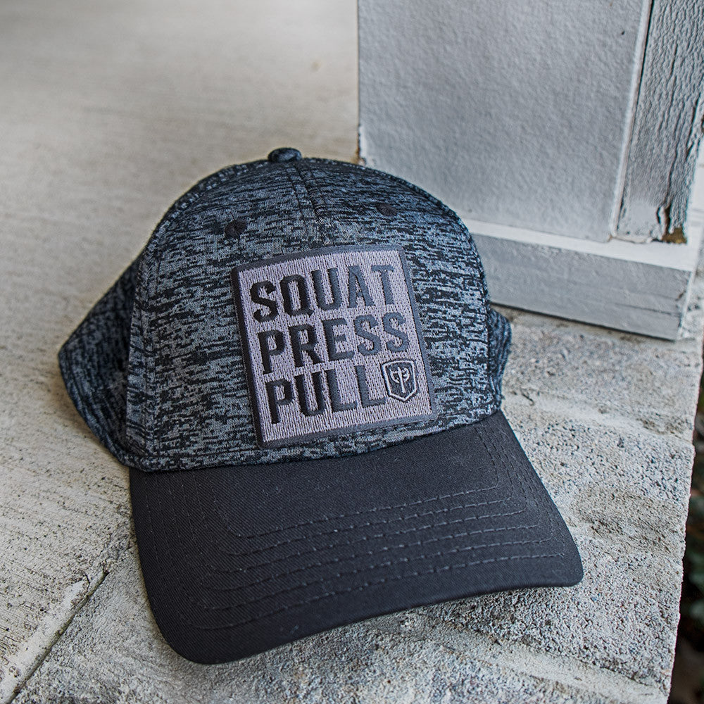 Squat Press Pull Curved Bill Cap - Rayon/Polyester