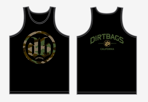 Mens DB Camo Tank - Black