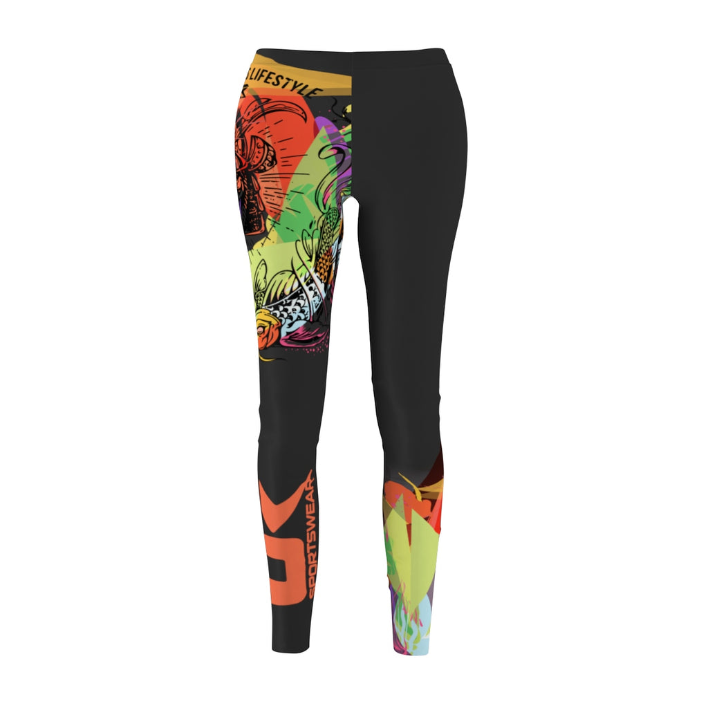 Samurai woman Leggings colorful in low polygon