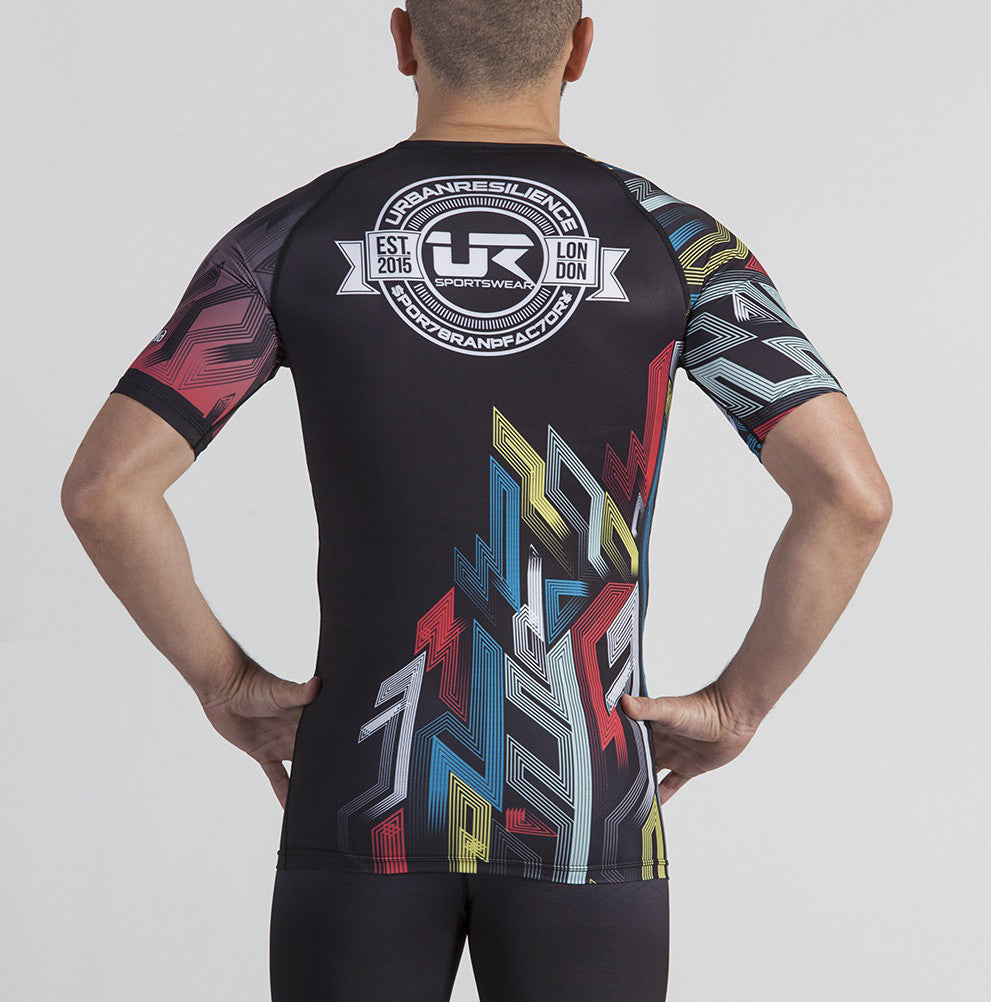 Short Sleeve Rashguard Graffiti Kilroy