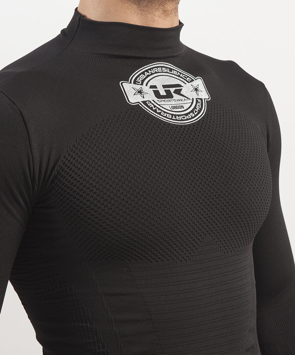 Long Sleeve Rashguard Dryarn® (Black)