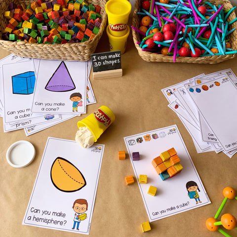 3D Shape Simple Play Mats | you clever monkey