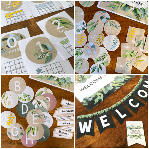 GUM LEAF Classroom Decor BUNDLE | you clever monkey