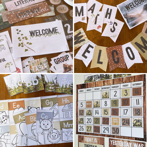Woodland Forest INTO THE WOODS Classroom Decor Bundle   you clever monkey