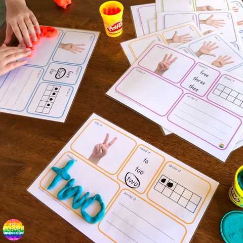 Number Word Mat BUNDLE | you clever monkey