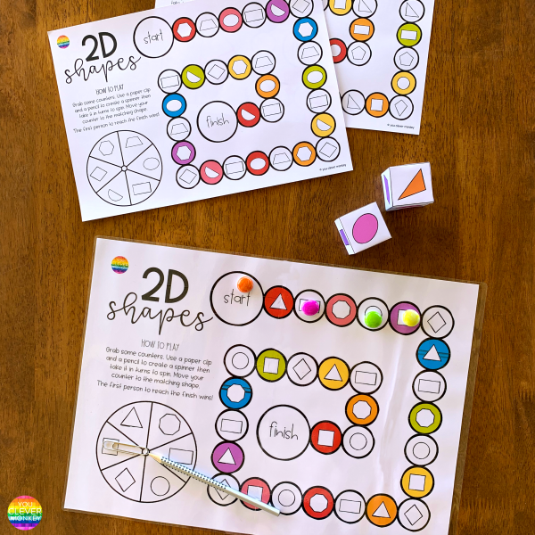 2D Shape Game - Board Game Mats