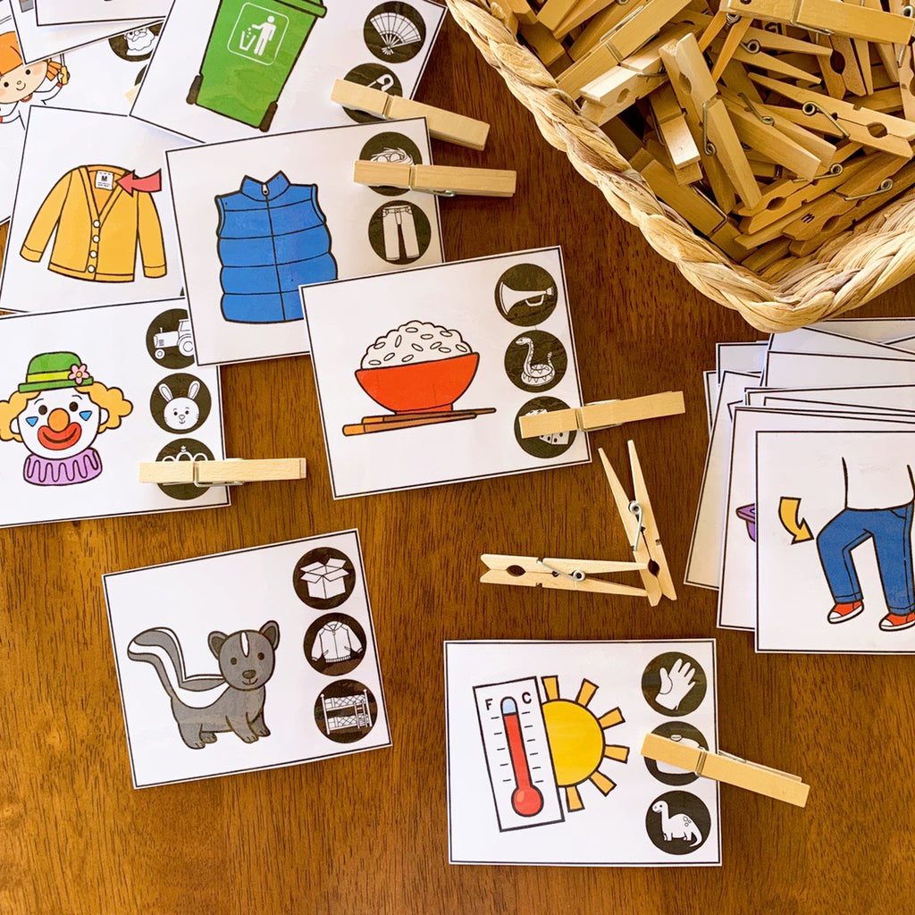 Rhyming Word Clip It Cards
