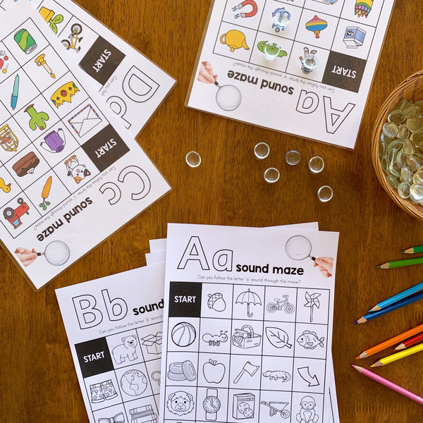 Alphabet Maze BUNDLE - Color + B+W Pack