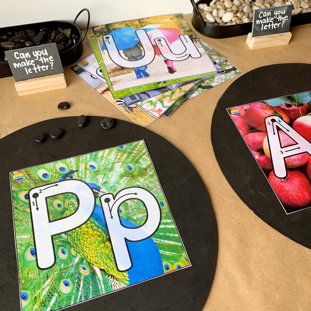 Alphabet Playdough Mats - Pre-Writers