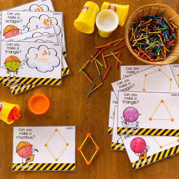 2D Shape STEM Challenge Cards