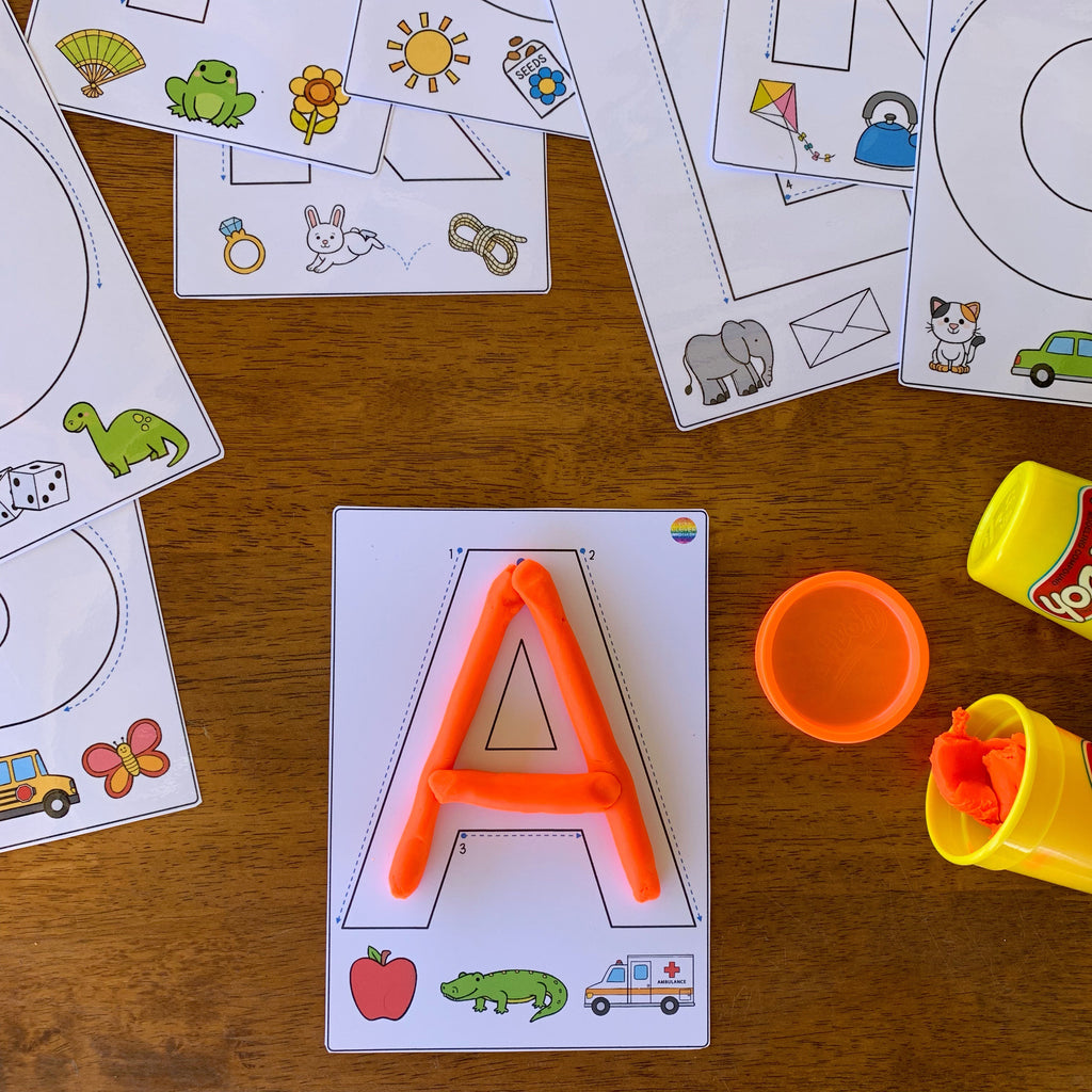 Alphabet Playdough Upper Case Letters