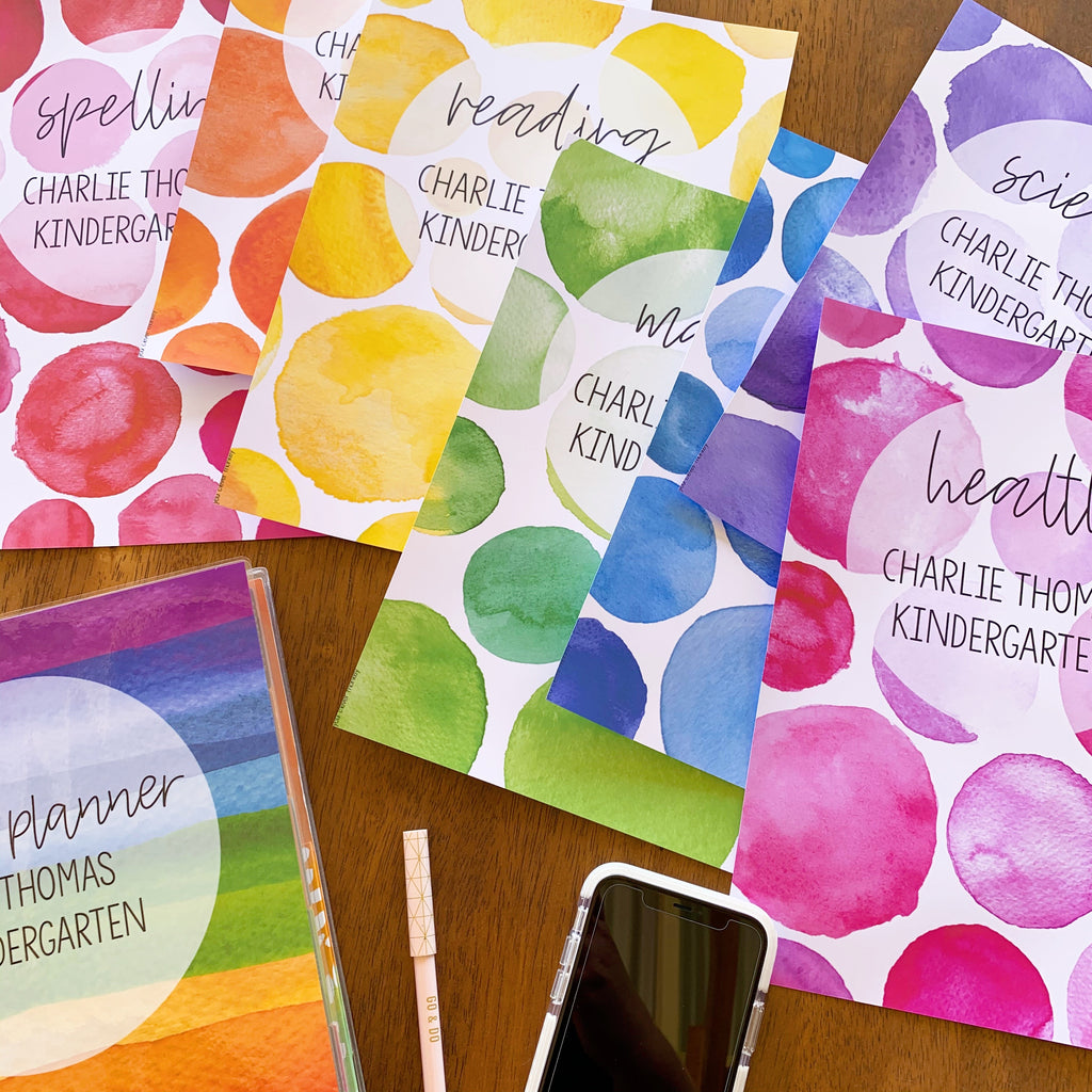 WATERCOLOUR PAINT Binder Covers Pack