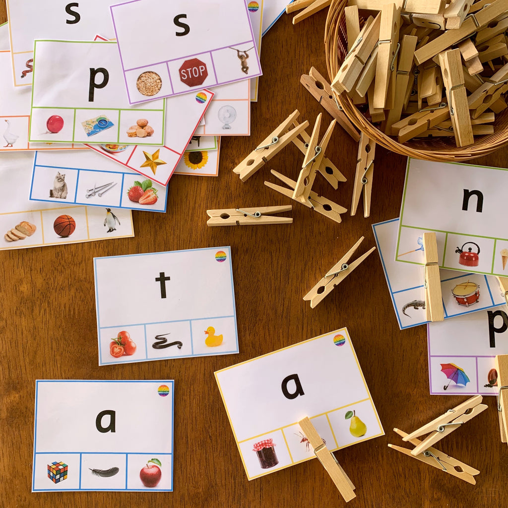 Beginning Sound Clip It Cards