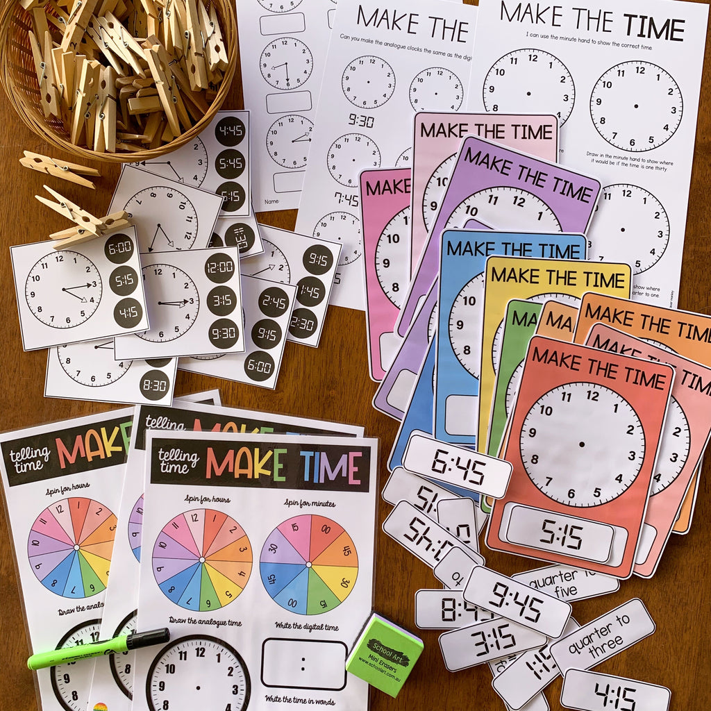 Learning To Tell Time - Quarter To/Quarter Past Expansion Pack