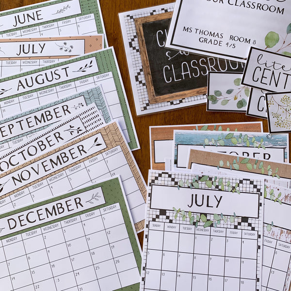 MODERN FARMHOUSE Simple Calendar