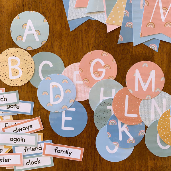 BOHO RAINBOW Word Wall Pack
