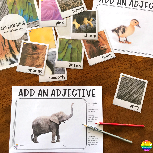 Add An Adjective Writing Center BUNDLE