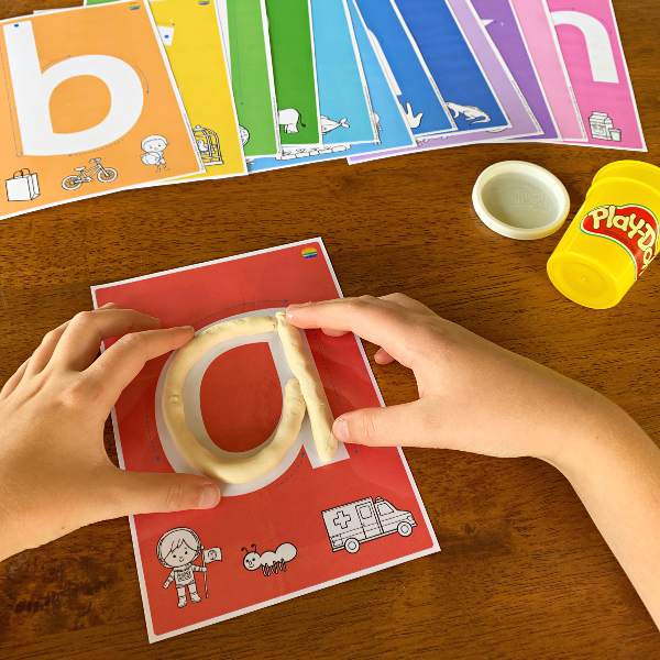 Alphabet Playdough Lower Case Letters