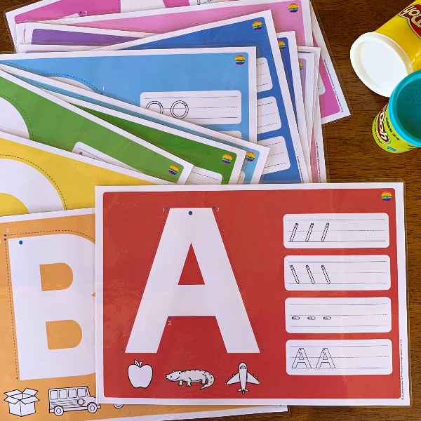 Alphabet Playdough Mats - Upper Case Letters