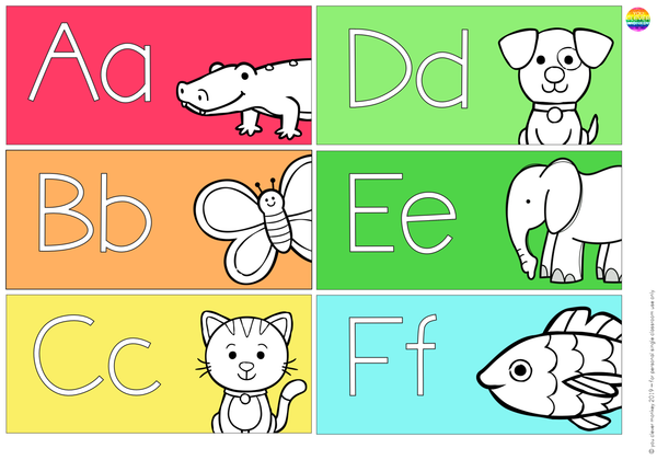 Animal Alphabet Word Wall Pack