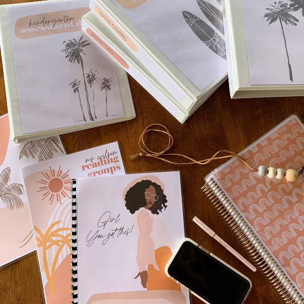 BOHO SUMMER Binder + Book Covers Pack