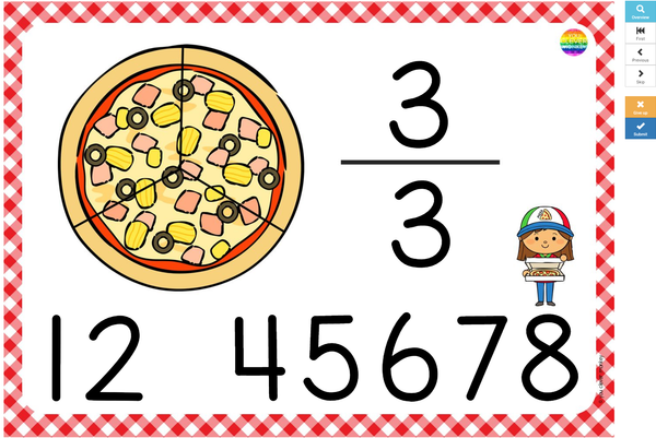 Pizza Fraction BOOM Cards
