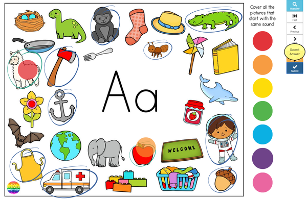 Initial Sounds Alphabet Mats BUNDLE