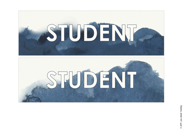 BLUSH + NAVY Editable Classroom Labels + Signs