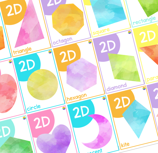 BRIGHT 2D Shape Posters
