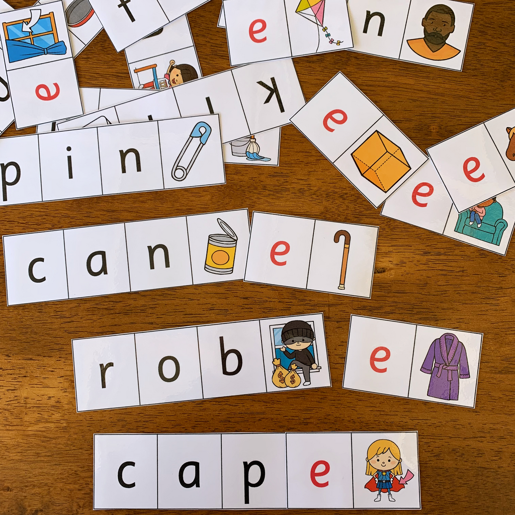 CVC to CVCe Word Cards
