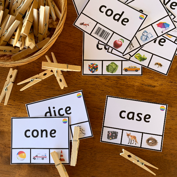 CVCe Word Clip Cards