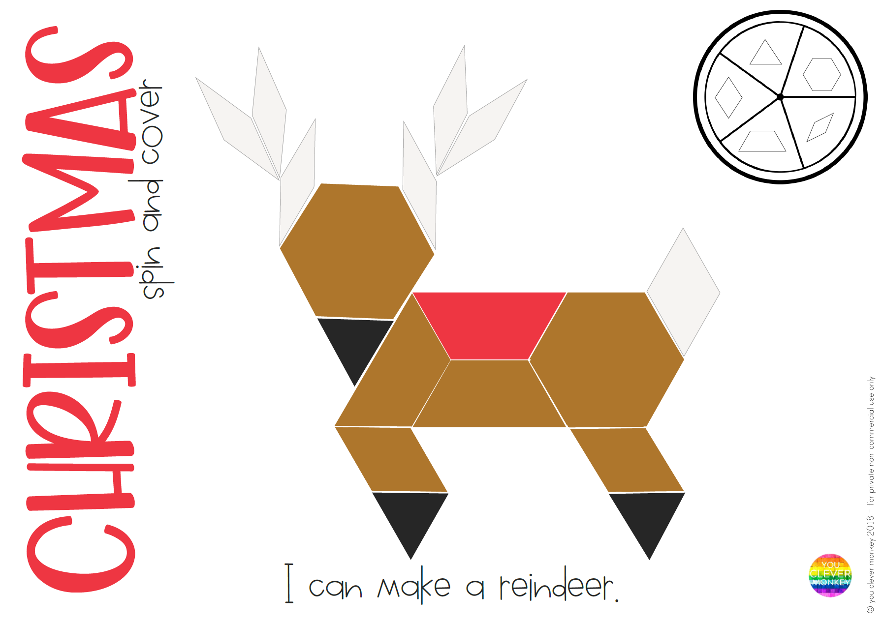 Christmas Stem Pattern Block Challenge Cards You Clever Monkey