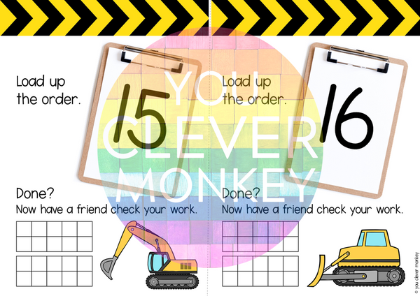 Construction Themed Number Pack