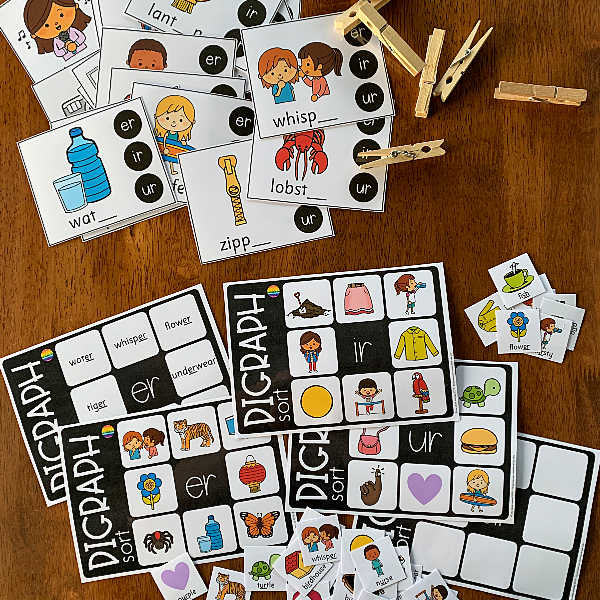 Digraph Activities Pack - ER IR UR  Controlled 'r' Sounds