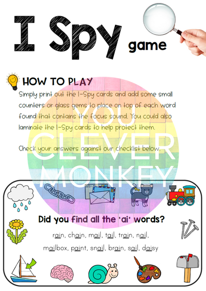 Digraph Sound Mazes + I Spy Games - AI Sound