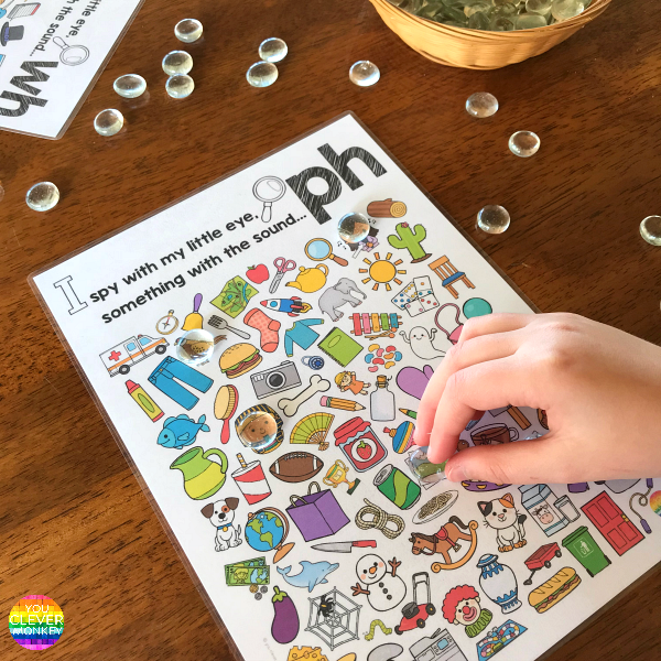 Digraph Sound Mazes + I Spy Games - PH Sound