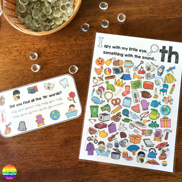 Digraph Sound Mazes + I Spy Games - TH Sound