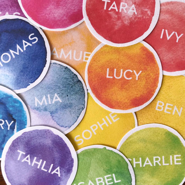 Watercolor Paint Editable Classroom Labels + Signs