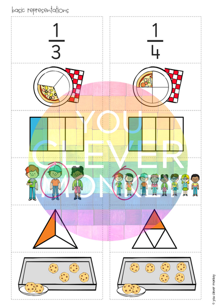 Fractions Sorting Pack