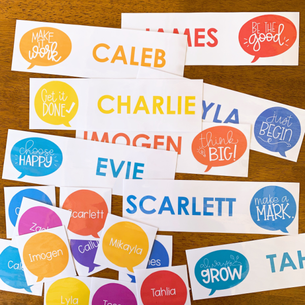 GROWTH MINDSET Editable Classroom Labels
